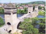 The famous Pont Valentre at the capital Cahors.