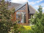 Thairn cottage has a private south facing conservatory