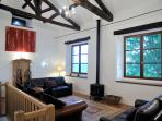 Massive lounge with magnificent original beams