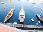 Luxury yachts ply to and fro