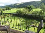 'Dalegarth' view of Upper Wharfedale from balcony