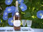 Cheers! Pineau, the Charentaise aperitif toasts Morning Glory(Ipomoea) flowers.