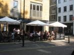 A restourant in Hoxton Square Just around the corner