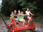 Fun for all ages on the Velo Rail