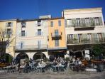 On the main square in the near by village of Valbonne