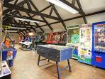 GAMES ROOM - IDEAL FOR TEENAGERS.   CHILDREN ALSO LOVE TO HAVE FUN HERE !!