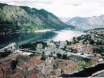 Looking down on Kotor Bay