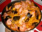 Paella cooked in our Kitchen!