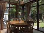 Bright conservatory dining room