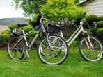 Our bicycles are free for your use to tour the local wineries or travel the hike and bike trails