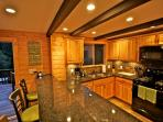 Kitchen with granite counter tops