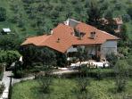 veduta aerea di Villa Rosa circondata dal verde
