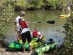 Kayak launching at Clam Bayou.