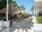 Local restuarant and beach bar 10 to 15 minute walk