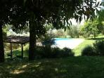 A view of the pool from the Hamlet on the side of one of the houses
