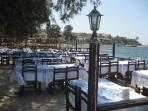 Sample delicious Turkish cuisine at the seafront restaurants 800m from apartment