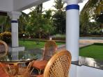 Verandah looking out towards the swimming pool