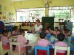 My wifes visit at the Pre school
