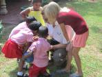 Guests from Finland with my Pre school kids