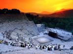 Sunset in Ancient Theatre of Epidavros