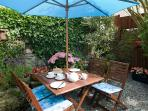 The patio style garden area is private and ideally suited for BBQ's and al fresco dining.