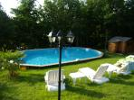 The heated pool