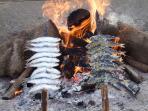 Fresh 'sardinas' grilling to perfection....