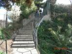 stair to Villefranche beach