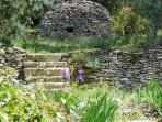 the Borie in the garden