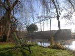 Winter mist over the river