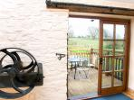 The barn retains original quirky features, and the french doors let in lots of air and light