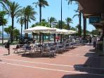 Take a Sunny stroll to Nearby Santiago de Ribera and its Beachside cafes !