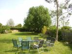 Garden with seating area