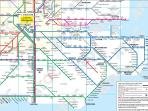 Railway map for London and the South East