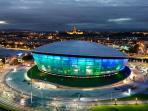 The impressive new Glasgow Hydro Arena - 5 mins in a car/ taxi from the apartment