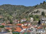 Visit pretty villages in the Troodos mountains