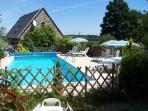 Spaciouse heated pool