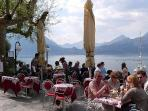 Varenna lakeside cafe