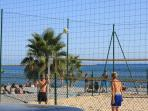 Free beach volley ground 2 min from appartment