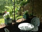 Secluded breakfast terrace for two...