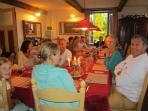 dinner in the diningroom