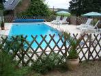 Heated pool area