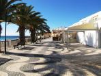 Boardwalk and commercial area near Praia da Luz