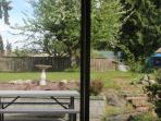View form dining room to backyard.