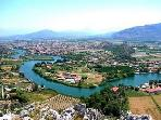 Dalyan from the castle (a great walk) .