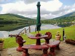 picnic table loch garden on Loch Earn
