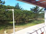 The veiw from the master bedroom, balcony, it's amazing to wake up and look at pine trees!!!