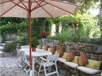 Shaded terrace for outside dining
