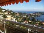 View from terrace towards Beaulieu, St Jean & Monaco