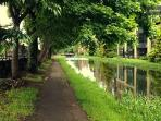 The canal is 100m away, a great place to walk, run or even picnic